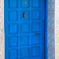 Blue door, #37 and the Hand of Fatima.