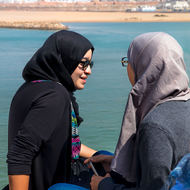 Meeting overlooking Oued Bouregreg river.