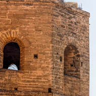 Corner tower of the kasbah fortification.
