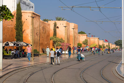 Thumbnail image ofStreetcar route outside the walls of the Rabat...