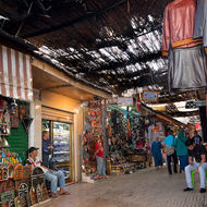 Not too busy in the medina markets.