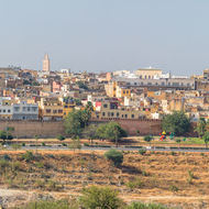 Panoramic look at the town of Meknes.