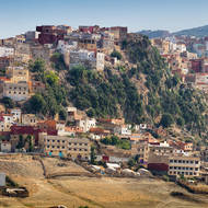 Hilltop city of Moulay Idriss.
