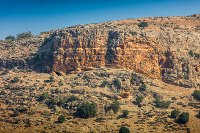 Thumbnail image ofSandstone cliffs around Moulay Idriss.