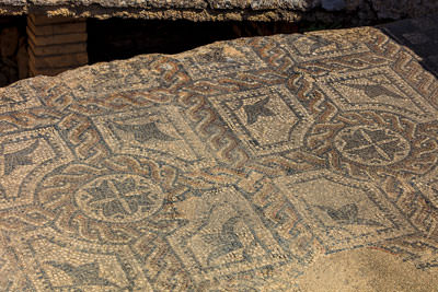 Thumbnail image ofMosaics on the heated floor over ducting system.