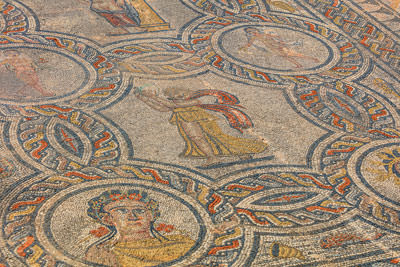 Thumbnail image of Mosaic in the House of Dionysus, the four seasons...