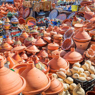 Tagines for sale.