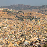 Panorama of old Fes.