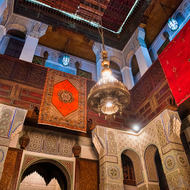Morocco style, open at the top although covered with carpets here.