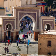 Medina gate at the piazza.