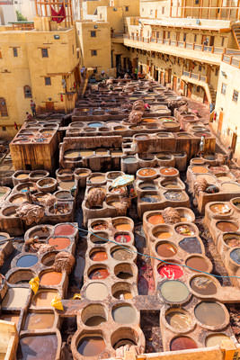 Thumbnail image of Looking over the Chouara tannery.