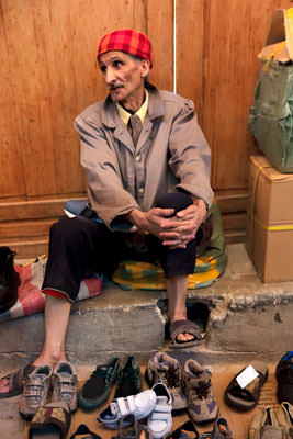 Thumbnail image ofLife's tough for a shoe seller with a limited...