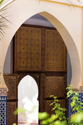 Thumbnail image of Door off mosque courtyard.