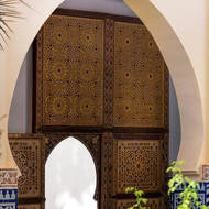 Door off mosque courtyard.