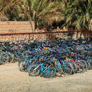 Bicycle parking lot.