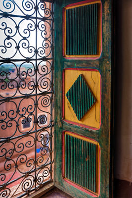 Thumbnail image ofKasbah window with colored shutter.