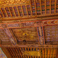 Ceiling in a kasbah room.