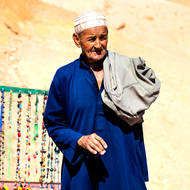 Trinket vendor in a souk leading to Ait Benhaddou.