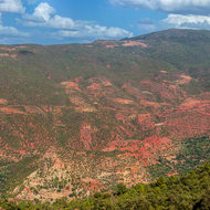 Panorama of the high Atlas Mountains.