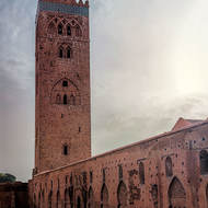 Koutoubia mosque and minaret.