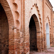 Arches of the Koutoubia mosque.