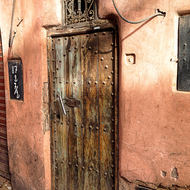 Door in a souk of the Marrakesh medina.