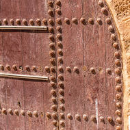 Riveted door in the city rampart.
