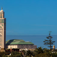 The immense Hassan II mosque Casablanca.