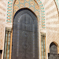 Very large bronze mosque door.