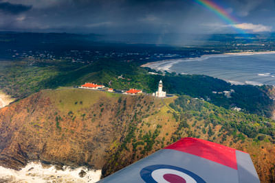 Thumbnail image ofRain storm passes over Byron Bay town beyond Cape...