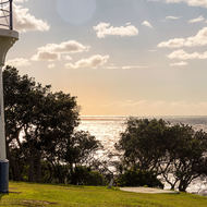 Ballina lighthouse, morning sun.