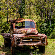 Old International truck.