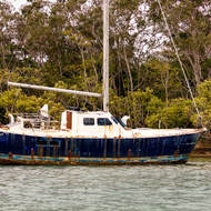 Old yacht on Noosa River.