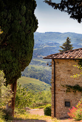 Thumbnail image ofVilla in the Tuscan hills, above the village of...