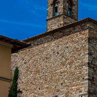 Bell tower of Saint Stefano church.