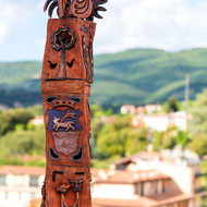 Totem at San Francesco museum.