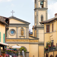 Santa Croce church at the end of Piazza Matteotti.