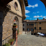 San Niccolo church forecourt.