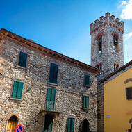 Around the streets of Radda, and the bell tower of San Niccolo church.