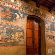 Frescoes within the Musei Civici.