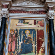 Religious art inside Sant'Agostino church.