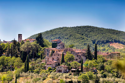 Thumbnail image ofNext hill across, Montefioralle.
