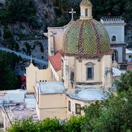 Dome of the church of Santa Maria Assunta in Positano.