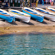 Row boat line-up.