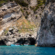 Limestone grotta on the southern side of Capri.