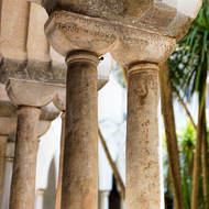 Columns around the cloister of Duomo di Sant' Andrea.