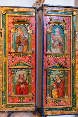 Thumbnail image of Religious art, decorated panels.