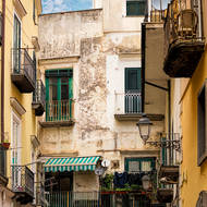 Streets and houses of Amalfi.