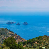 Li Galli islands from the road to Sant'Agata sui due Golfi.