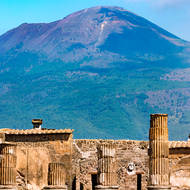 Forum, looking north towards nearby Mount Vesuvius.
